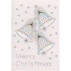 Form-A-Lines Stitching Cards Three Bells Merry Christmas C24-2
