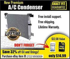 cool NEW PREMIUM AC CONDENSER FITS 2008-2010 FORD F-250 SUPER DUTY - For Sale