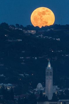 9pm on May 5, 2012. Largest Supermoon in years rises behind the Berkeley Hills. PhotofromAlbany Hill, courtesy ofIra Serkes.