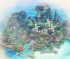 Fantasy City, Fantasy Places, Fantasy Map, Fantasy World, Fantasy Landscape, Landscape Art, Journey To The Past, Concept Art Gallery, Monster Hunter World