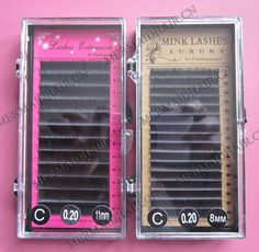 silk & mink eyelash extension Curl : J,B,C, D curl length :8-16mm thickness:0.07,0.10,0.15,0.20,0.25mm fast delivery