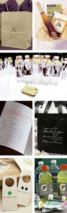 Wedding Welcome Gift Bags, Ideas, and Inspiration: make out of town guest bags Wedding Welcome Gifts, Wedding Gift Bags, Wedding Wishes, Wedding Favors, Wedding Reception, Reception Ideas, Wedding 2015, Diy Wedding, Dream Wedding