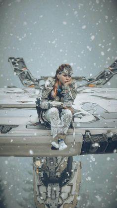 Sitting on a Tallneak- Video Game Art, Video Games, Playstation, Horizon Zero Dawn Aloy, Star Trek, Futuristic Art, Gaming Wallpapers, Video Game Characters, God Of War