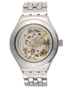 Swatch Watch, Unisex Swiss Automatic Body and Soul Stainless Steel Bracelet 37mm YAS100G