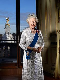 Queen Elizabeth II in the Centre Room @ Buckingham Palace this past December (taken by John Swannell)