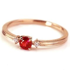 Simple and elegant ruby ring