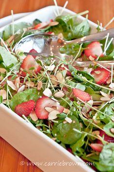 #SANE Strawberry Pea Shoot Salad  | www.carriebrown.com | www.sanesolution.com