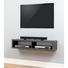 The Functional And Upscale Appearance Of This Wall Mounted TV Console Will  Create A Modern Look