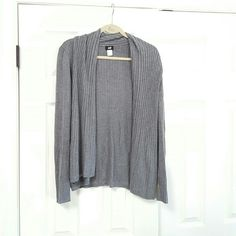 H&M Grey Long Sleeve Cardigan Gently used. No stains. Very soft. H&M Sweaters Cardigans