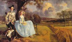 Rococo - Thomas Gainsborough - Portrait de Mr et Mrs Andrews