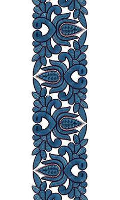 Wedding Saree Lace Border Embroidery Design 15436 Indian Embroidery Designs, Aari Embroidery, Machine Embroidery Designs, Embroidery Patterns, Boarder Designs, Islamic Paintings, Saree Border, Lace Design, Paint Designs