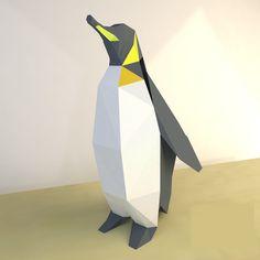 PDF à transformer en sculpture murale - Le papercraft 3D Paper Toys, Origami, Sculptures, Diy Crafts, Patterns, Bricolage, Jewerly, Make Your Own, Origami Paper