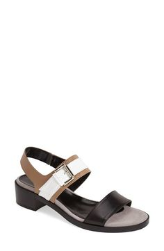 Free shipping and returns on Aquatalia by Marvin K. 'Ulrika' Leather Slingback Sandal (Women) at Nordstrom.com. A trio of neutral hues lends casual sophistication to a stacked-heel sandal featuring Aquatalia by Marvin K.'s signature, impeccable Italian craftsmanship.