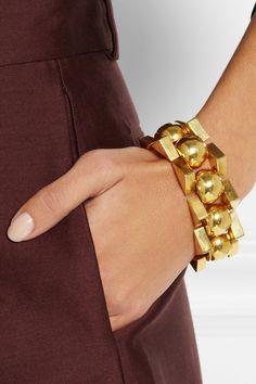 Olivia Collings|Bracelet en or 18carats des années40|NET-A-PORTER.COM