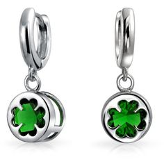 Bling Jewelry Galway Girl Dangles ($33) ❤ liked on Polyvore featuring jewelry, earrings, 29. earrings., clover earrings, green dangle earrings, clover jewelry, green jewelry and long earrings