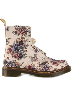 Dr. Martens Floral Print Lace-up Boot - Spk - Farfetch.com