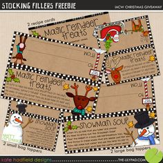 Christmas stocking fillers free printable fun