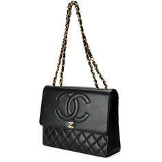Pre-owned Chanel Vintage embossed flap shoulder bag (1.969.310 HUF) ❤ liked on Polyvore featuring bags, handbags, shoulder bags, flap shoulder bag, chain purse, white shoulder bag, shoulder handbags and quilted chain purse