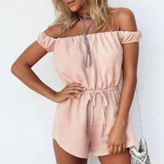 Strappy Sexy Strapless Romper Jumpsuit