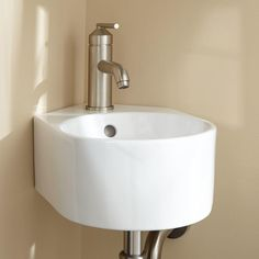 Our white ceramic wall hung cloakroom corner basin one tap hole sink is practical and stylish, and easy to use. Cloakroom basins are great for creating more room in your bathroom and making it look more spacious. As well as making your bathroom look more contemporary and neat.