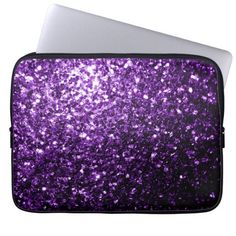 Sold again! Beautiful #Purple #glitter #sparkles Laptop Computer Sleeve by #PLdesign #PurpleSparkles #SparklesGift #SparklesLaptopSleeve #LaptopSleeve