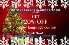 Weihnachtsaktion! Language, Christmas Tree, Holiday Decor, Learn Languages, Teal Christmas Tree, Xmas Trees, Languages, Xmas Tree, Christmas Trees