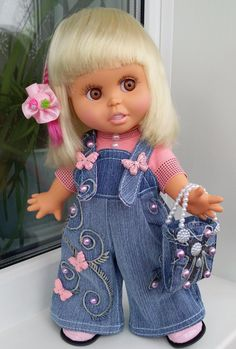 Одноклассники  Galoob Baby Face in OOAK Denim Jeans Outfit
