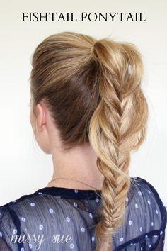 How To: Fishtail Ponytail fishtail poni, prom hairstyles, poni tutori, ponytail braid tutorial