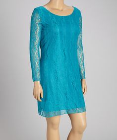 Another great find on #zulily! Jade Lace Shift Dress - Plus by Star Vixen #zulilyfinds