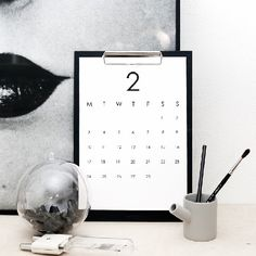 Classic RK DESIGN calendar. This year it is Free! Calendar for you who only need days and numbers. By RK DESIGN