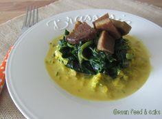 Spinaci e seitan in salsa allo zafferano http://blog.giallozafferano.it/greenfoodandcake/spinaci-e-seitan-in-salsa-allo-zafferano/