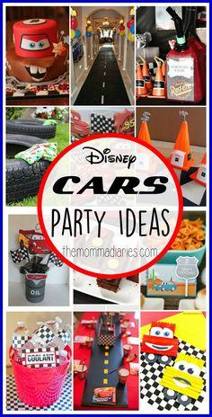 Disney Pixar CARS Party Ideas, Disney Party Ideas, Cars Party Ideas, Cars 3 Party, Lightening McQueen Party