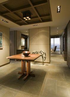 zen like square paneled ceiling. superb.