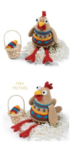 Crochet Baby Toys, Cute Crochet, Crochet Dolls, Crochet Animals, Crochet Hats, Crochet Chicken, Chicken Hats, Chicken Pattern, Easter Crochet Patterns