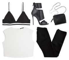 """every weekend"" by grey-eyes ❤ liked on Polyvore featuring H&M, MANGO, J Brand and Giuseppe Zanotti"