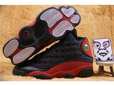 Authentic Air Jordan 13 XIII Bred black red Men Sneaker 414571-010