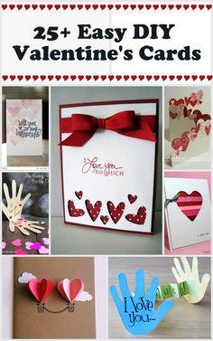 25+ Easy DIY Valentine's Day Cards - NoBiggie.net