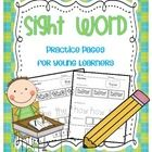 $Sight Word Practice Pages 52 Pages- Color Word- Trace the Word- Build the word!