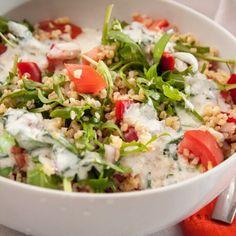 Vegetable Recipes, Meat Recipes, Vegetarian Recipes, Healthy Recipes, Vinaigrette, Bulgur Salad, Salad Dishes, Valeur Nutritive, Hungarian Recipes