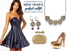 The perfect outfit for a New Year's Eve party wearing Millié Jewelry Design, Alexander McQueen clutch and Christian Louboutin shoes.  #nye #2014 #party #outfit #newyearseve #milliejewelry #woodnecklace #alexandermcqueen #christianlouboutin #nyeoutfit
