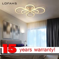 LOFAHS Modern LED ceiling lights for living dining room bedroom with remote control Plexiglass Chinese knot ceiling lamp fixture