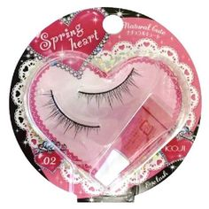Koji Spring Heart False Eyelashes (No.2 Natural Cut) by Spring heart. $4.97. | IMPORTANT NOTICE | Made for Japan market and in a Japanese retail package. Manual(s) is in Japanese only.. Moderate depth to the eyes, cute, natural impression. Comes with a special glue. Made in China.* Picture may be of different variation