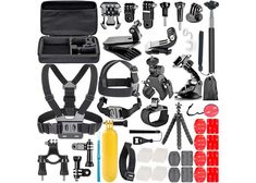 Neewer Action Camera Accessory Kit for GoPro Hero 45 Session Hero 123345 Xiaomi Yi Nikon and Sony Sports DV in Swimming Rowing Climbing Bike Riding Camping and More *** You can find more details by visiting the image link. Gopro Hero 4, Gopro Accessories, Photo Accessories, Nikon D3300, Camcorder, Lente Canon, Kit, Go Pro, Remo