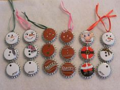 Bottle cap ornaments-cute!