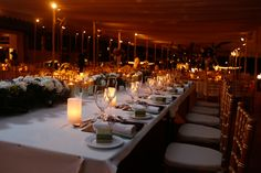 Marquee wedding table decor