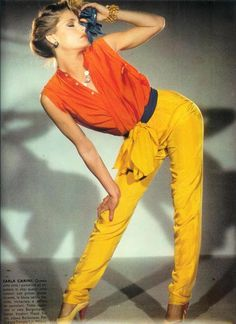 Model: Kelly Emberg, circa early 80s 80s And 90s Fashion, Retro Fashion, Runway Fashion, Vintage Fashion, Patti Hansen, Lauren Hutton, Kelly Emberg, White Boho Dress, Vogue
