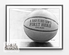 Father's Day Gift Idea - Personalized BASKETBALL - from Jack & Jilly Designs
