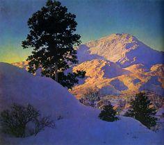 Winter Sunrise, huile de Maxfield Parrish (1870-1966, United States)