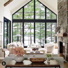 Iron Windows in great room