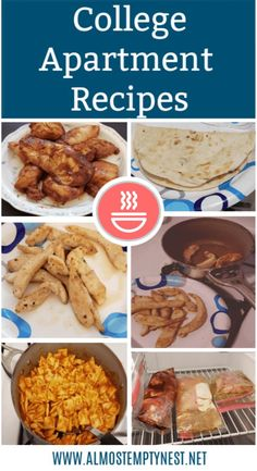 Easy College Apartment Recipes written by a college student. Simple salmon, seasoned chicken, fajita chicken, basic pasta, and quesadillas with easy to follow instructions. #almostemptynest #collegerecipes #apartmentrecipes #firstapartment #easyrecipes Easy Recipes For College Students, Easy College Meals, Easy Meals For One, College Cooking, College Food Recipes, Healthy College Snacks, College Food Hacks, Cooking Kids, Kids Baking